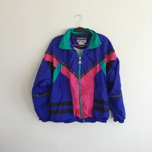 Sweaters - Vintage 80s windbreaker jacket jogger set